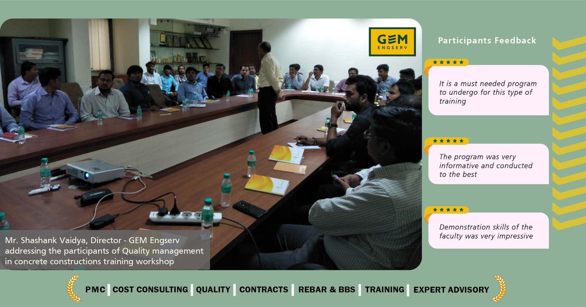 Quality Management in Concrete Constructions workshop