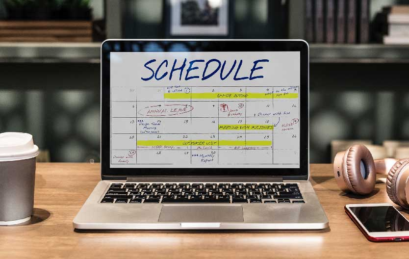 Scheduling and time management