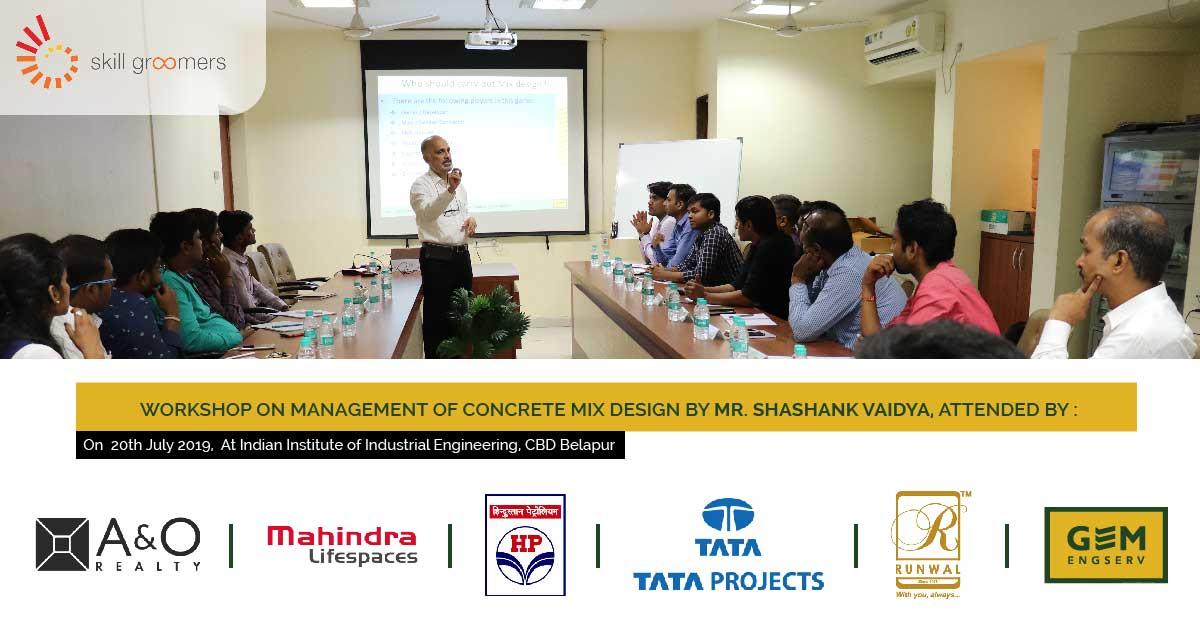 Workshop on management of concrete mix