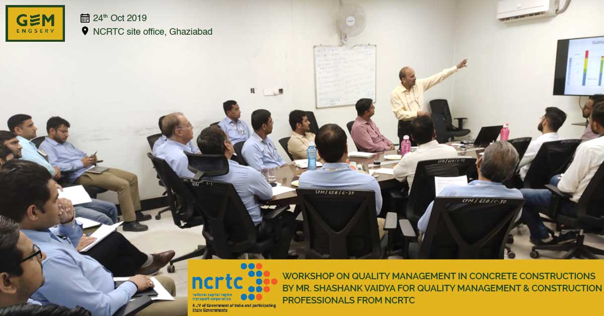 NCRTC worshop on quality management in concrete construction