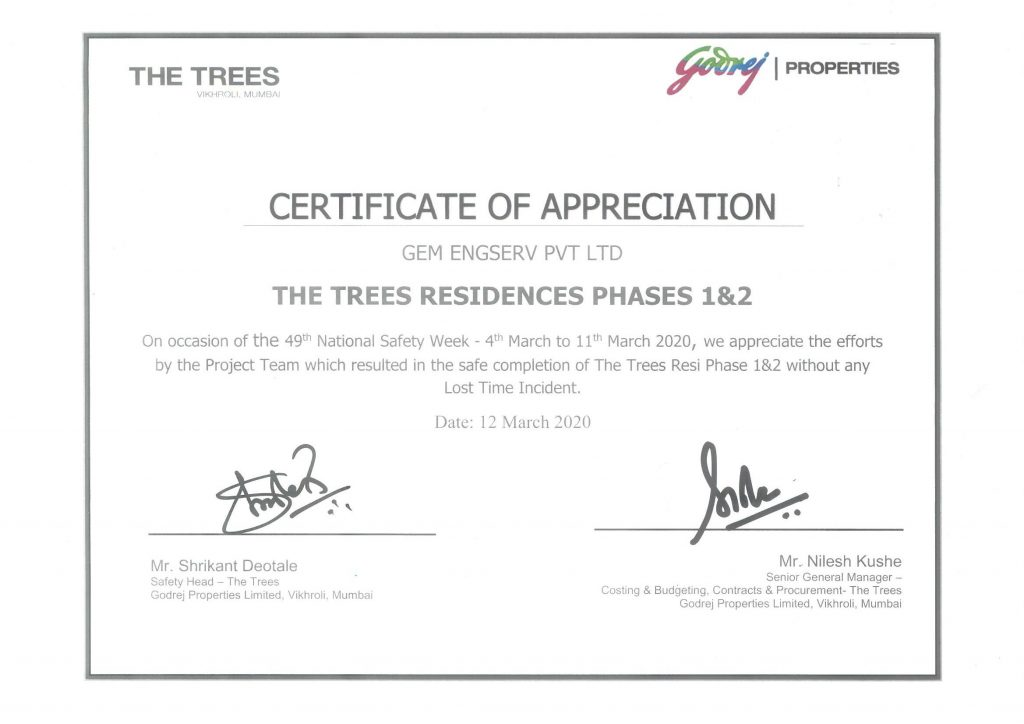 Godrej Safety Award