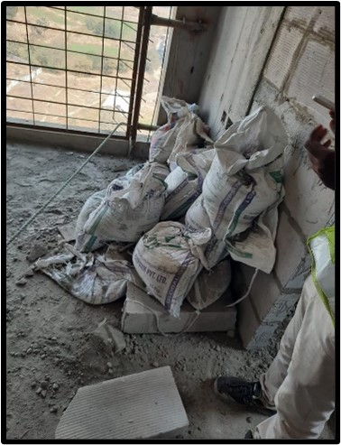 Stacked Cement Bags