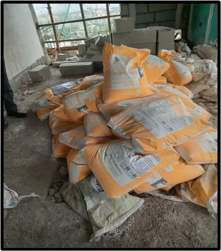 Poor Housekeeping Cement Bags